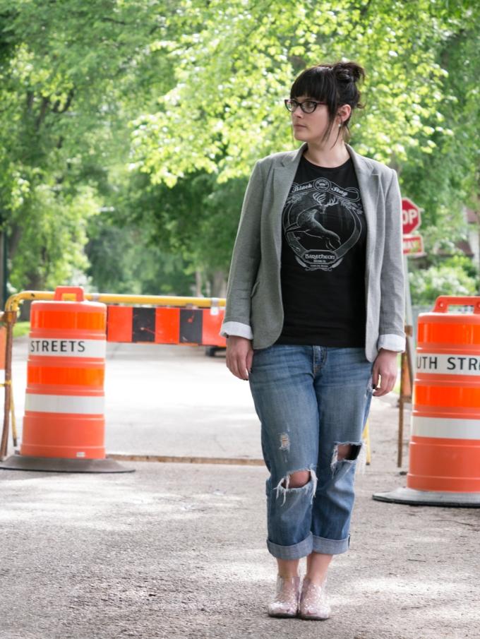 Aritzia Blazer boyfriend jeans baratheon stout Melissa Gaetano Pesce